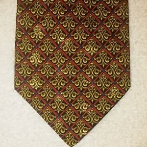 Brioni necktie. Blue, red, and gold. Exquisite.